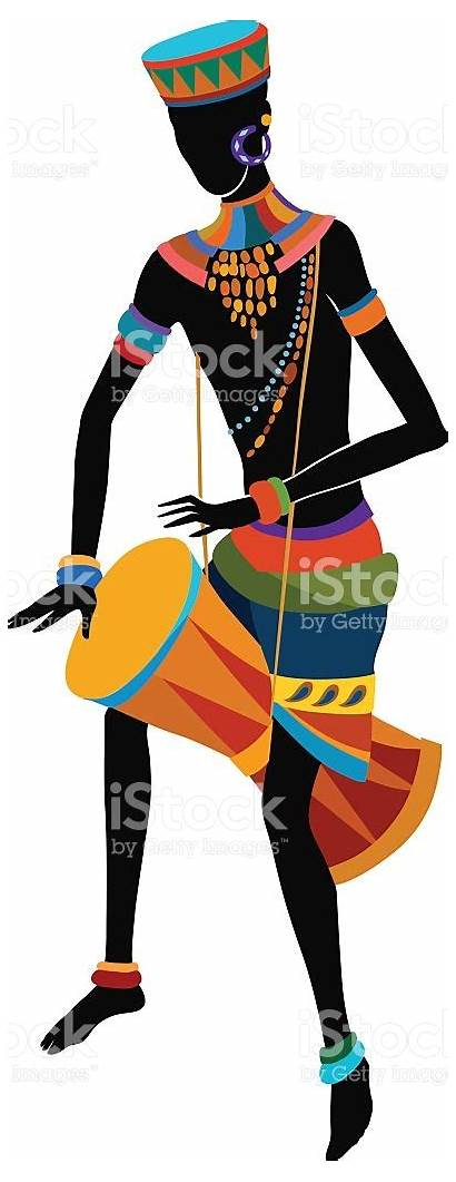 African Clipart Drum Playing Vector Drummer Drums