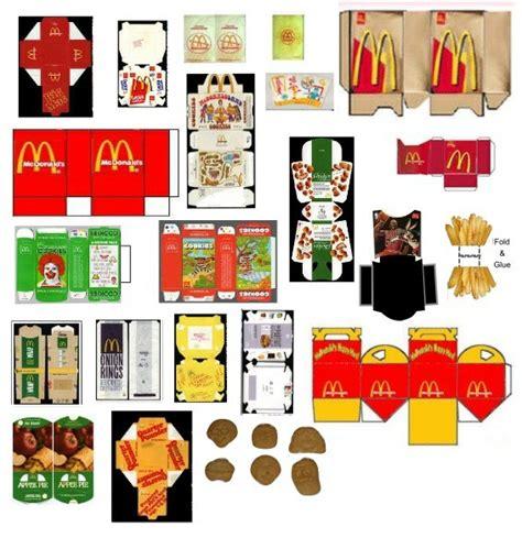 food papercraft template m 225 s plantillas para crear tu juego mcdonalds packaging templates pd para imprimir