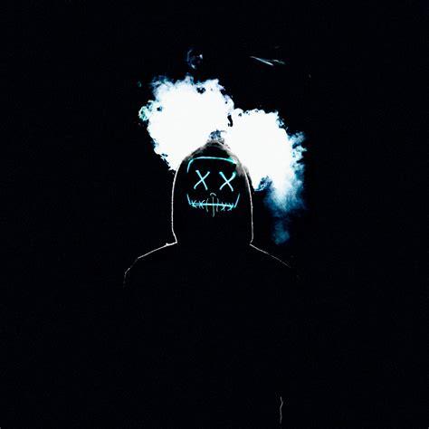 Man 4K Wallpaper, LED mask, AMOLED, Smoke, Black ...