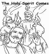 Coloring Pentecost Pages Bible Holy Spirit Sunday Children Sheets Colouring Mother Fire Crafts Tongues Popular Visit Template sketch template