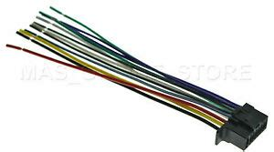 wire harness for sony cdx gt575up cdxgt575up cdx gs500r cdxgs500r ships today ebay