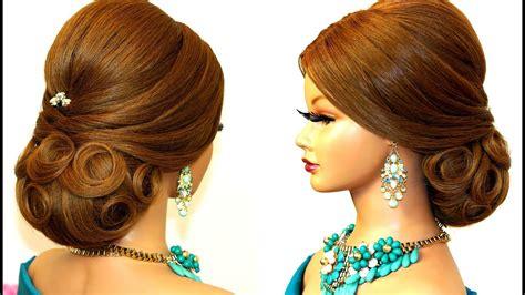 wedding hairstyle  long hair bridal updo tutorial