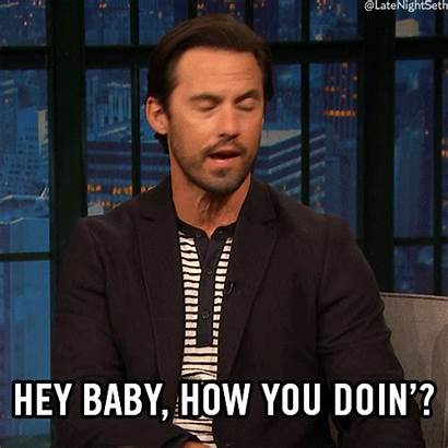 Flirt Gifs Seth Meyers Hey Doing Late