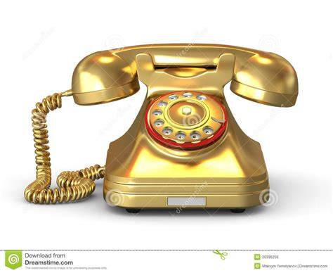 golden phone golden phone royalty free stock images image 20336259