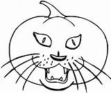 Pumpkin Coloring Cat Drawing Scary Halloween Spooky Printable Sheets Benefits Sheet Getdrawings Getcolorings Head Bestappsforkids Draw Appealing sketch template
