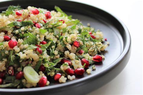 comment cuisiner les pois chiches salade de quinoa aux herbes 1 2 3 veggie