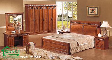 meuble de chambre a coucher en bois wooden bedroom furniture with 80 inch length wood bed yf