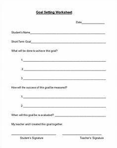 Free Goal Setting Worksheet Free Worksheets Library ...