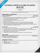 General Resume Templates Office Clerk Resume Sample BestSellerBookDB
