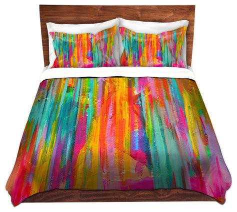 dianoche duvet covers twill neon double abstract