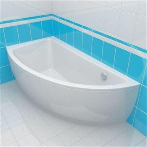 offset corner bath