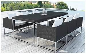 Table Resine Tressee : table et chaise de jardin en resine tressee table et ~ Edinachiropracticcenter.com Idées de Décoration