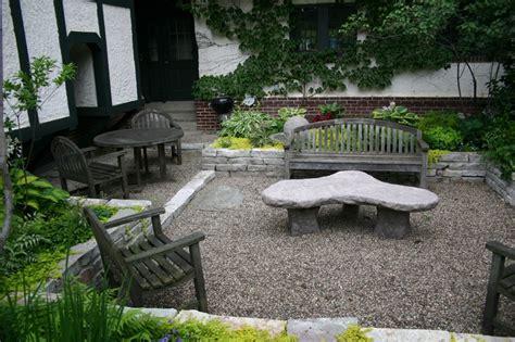 gravel patio designs sunked gravel patio deck ideas pinterest