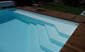 Piscine Liner Blanc : lovely escalier d angle piscine 12 escalier du0027angle avec banquette rev tement liner blanc ~ Preciouscoupons.com Idées de Décoration