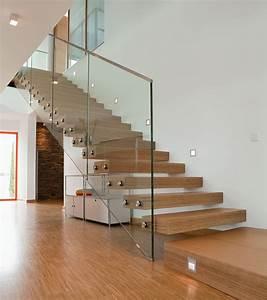 Treppe Mit Stauraum : glasgel nder treppe freitragende treppe mit glasgel nder ~ Michelbontemps.com Haus und Dekorationen