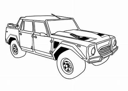 Coloring Pages Lamborghini Cars Sheet Lm002 Drawing