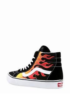 vans sk8 hi high top sneakers in black for lyst