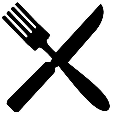fork and knife clipart black and white fork and knife clipart black and white clipartxtras