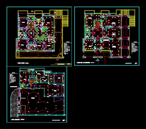 village plans electric  autocad  cad