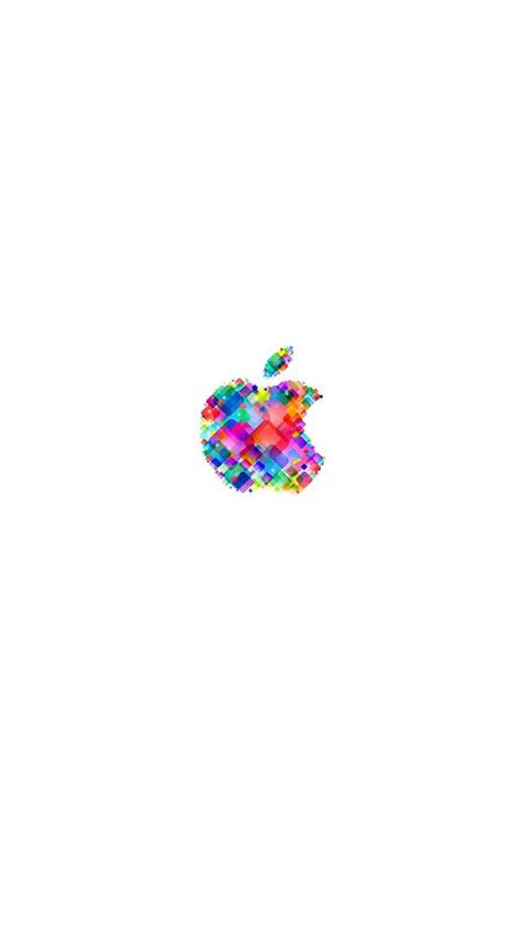 apple logo pop colorful white wallpapersc iphones