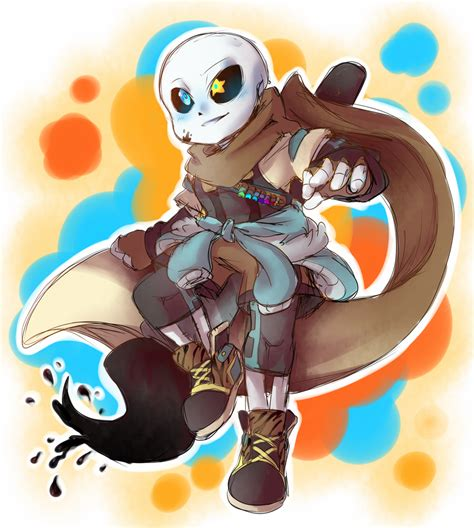 He exists out of them but can interact with them. Ink Sans Minecraft Skin