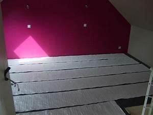 chantier plancher chauffant par film aluminium chez ae With plancher chauffant electrique parquet