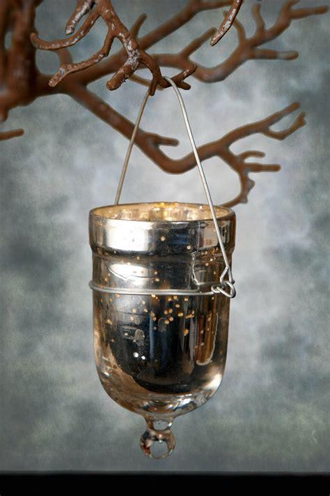 hanging votive candle holders 6 mercury glass hanging votive candle holders