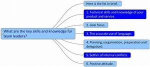 What Are The Key Skills And Knowledge For Team Leaders