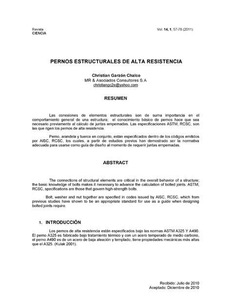 CALCULO DE PERNOS