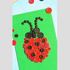 Ladybug Button Art Craft  Easy Peasy And Fun