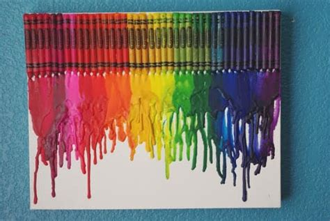 melted crayon art tutorial happiness  homemade