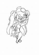 Splatoon Marina Lil Sketch Stay Peep Hook sketch template