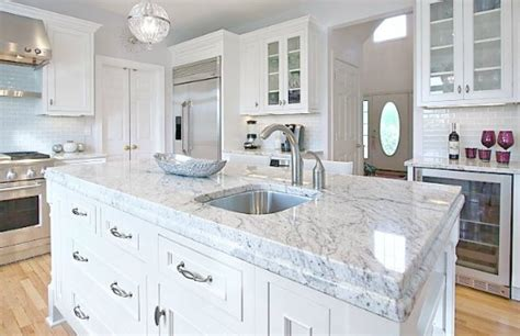 marble kitchen countertops colors which granite looks like white carrara marble 7369