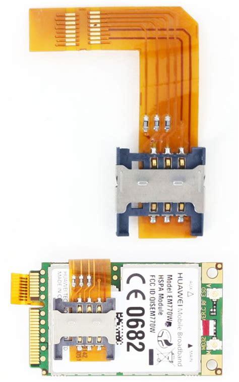 sim card adapter  mini pcie ggumtslte modems