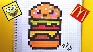 Pixel Art Manger : comment dessiner un hamburger kawaii youtube ~ Melissatoandfro.com Idées de Décoration