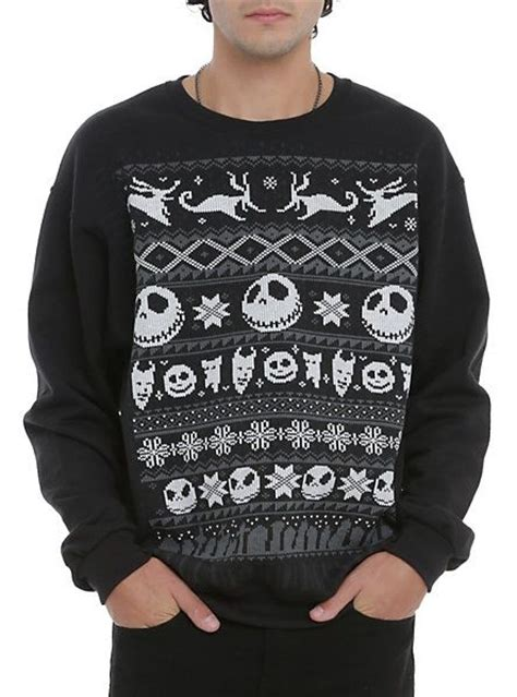 nightmare before sweater the nightmare before fair isle crewneck pullover