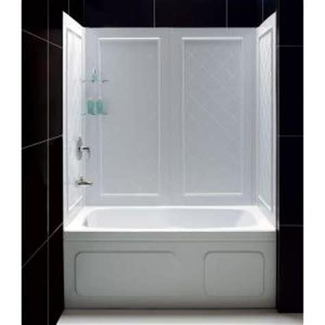 dreamline qwall tub                piece easy  adhesive tub