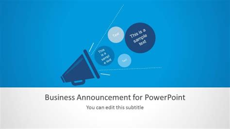 Business Announcement Template For Powerpoint