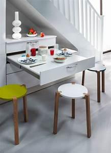 Meuble Cuisine Avec Table Escamotable : cuisine avec coin repas table bar lot pour manger c t maison ~ Melissatoandfro.com Idées de Décoration