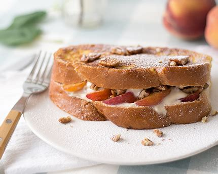 Peach Pecan Stuffed French Toast Redpath Sugar