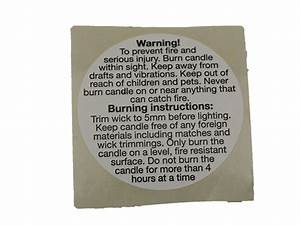 candle safety stickers With candle safety labels