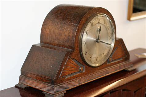 deco clock smith s electric oak cased in clocks furniture
