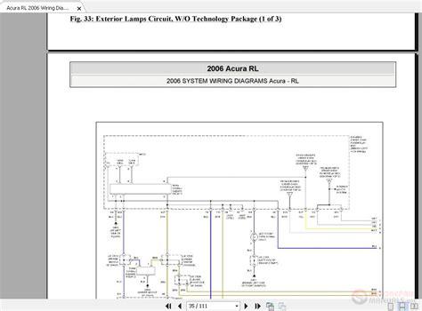 2006 Acura Rl Wiring Diagram by Acura Rl 2006 Wiring Diagrams System Auto Repair Manual