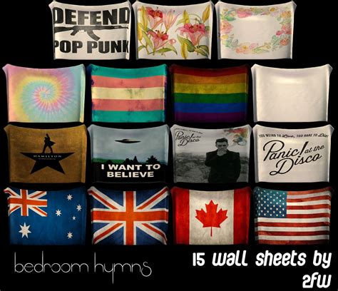 bedroom hymns  wall sheets rooms teen sims mods