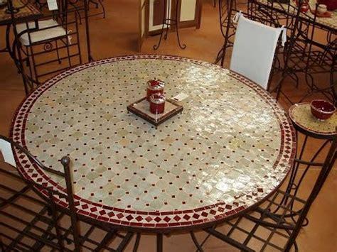 table chaise fer forgé table zellige marocain fer forge salon jardin chaise