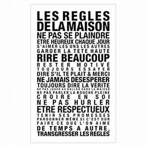 Affiche Les Regles De La Maison : poster les r gles de la maison la cabane eug ne kidzcorner ~ Melissatoandfro.com Idées de Décoration