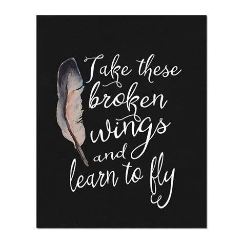 blackbird lyrics printable art print  quietforestdesign