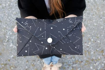 pattern lined envelope clutch purse sewing