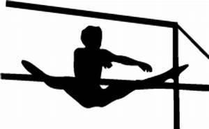 Gymnastics Bars Silhouette Clipart