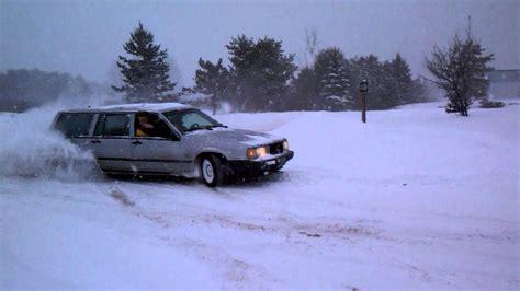 snow drifting volvo  turbo youtube